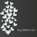 Love pattern heart banner background. Royalty Free Stock Photo