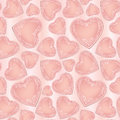 Love pattern with hearts in vintage style ornamental seamless background valentin s day texture Stock Photo