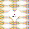 Love pattern, valentines day Royalty Free Stock Images