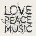 Love - peace - music