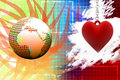 Love peace romance love heart finding love solution in colorful background Royalty Free Stock Images