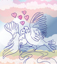 Love pigeons Royalty Free Stock Photo