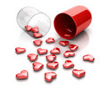 Love pill Stock Photo