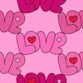 Love Pink Seamless Pattern