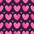 Love pink stripe seamless pattern