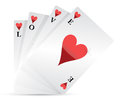 Love playing cards Stock Image