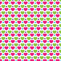 Love polkadot background pattern and shape vector Royalty Free Stock Photography