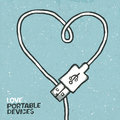 Love portable devices Royalty Free Stock Photo