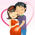 Love and Pregnancy Royalty Free Stock Image