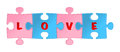 Love puzzle. Vector Royalty Free Stock Photography