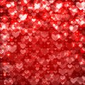 Love red abstract background sparkling st valentine hearts vector Royalty Free Stock Image