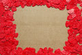 Love red hearts border frame card Royalty Free Stock Photo