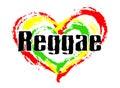 We love Reggae Music Royalty Free Stock Photo