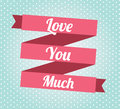 Love ribbon over dotted background vector illustration Royalty Free Stock Images