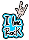 Love rock creative design of Royalty Free Stock Photos