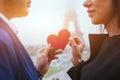 Love and romance, couple on honeymoon in Paris Royalty Free Stock Photo