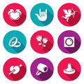 Love and romance Icons Set. Vector Illustration.