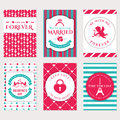 Love, romantic and Valentine's Day banners. Royalty Free Stock Photo