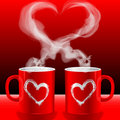 Love's cups Royalty Free Stock Photo