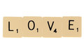 Love scrabble letters Royalty Free Stock Photo