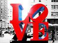 Love Sculpture in New York Stock Image
