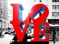 Love Sculpture in New York Stock Image