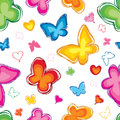 Love seamless pattern with butterfly ornamental background hearts valentin s day texture Royalty Free Stock Photography