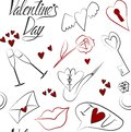 Love seamless pattern to Valentine`s Day on white background