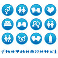 Love and sex icons set of Royalty Free Stock Images