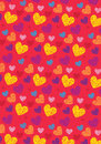 Love shape pattern sketch wallpaper Royalty Free Stock Photography