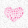 Love shopping seamless vector background Royalty Free Stock Photo