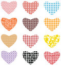 Love sign seamless abstract pattern in red blue yellow black colors each is having different pattern Royalty Free Stock Photography