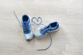 Love sign, Selective focus close up blue sport Royalty Free Stock Photo