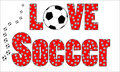 Love Soccer football background Royalty Free Stock Images