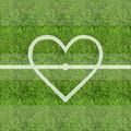 Love soccer grass field background Royalty Free Stock Photo