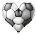 Love soccer heart Royalty Free Stock Photo