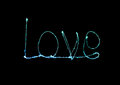 Love sparkler firework light alphabet valentines day Stock Photography