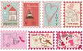 Love stamps Stock Images