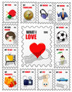 Love stamps Stock Photos