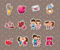Love stickers Stock Image