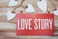Love Story card Royalty Free Stock Photo