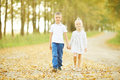 Love story children boy and girl Royalty Free Stock Photo