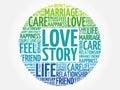 Love Story circle word cloud