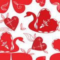 Love swan pattern, holidays . Stock Photo