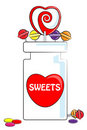 Love Sweets and jar Stock Image