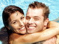 Love and swimmingpool. Royalty Free Stock Images