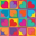 Love symmetry box seamless pattern Royalty Free Stock Photo