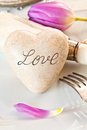 Love Table Setting Royalty Free Stock Photos