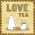 Love tea card for everyone Royalty Free Stock Image