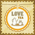 Love tea card for lover Royalty Free Stock Photography